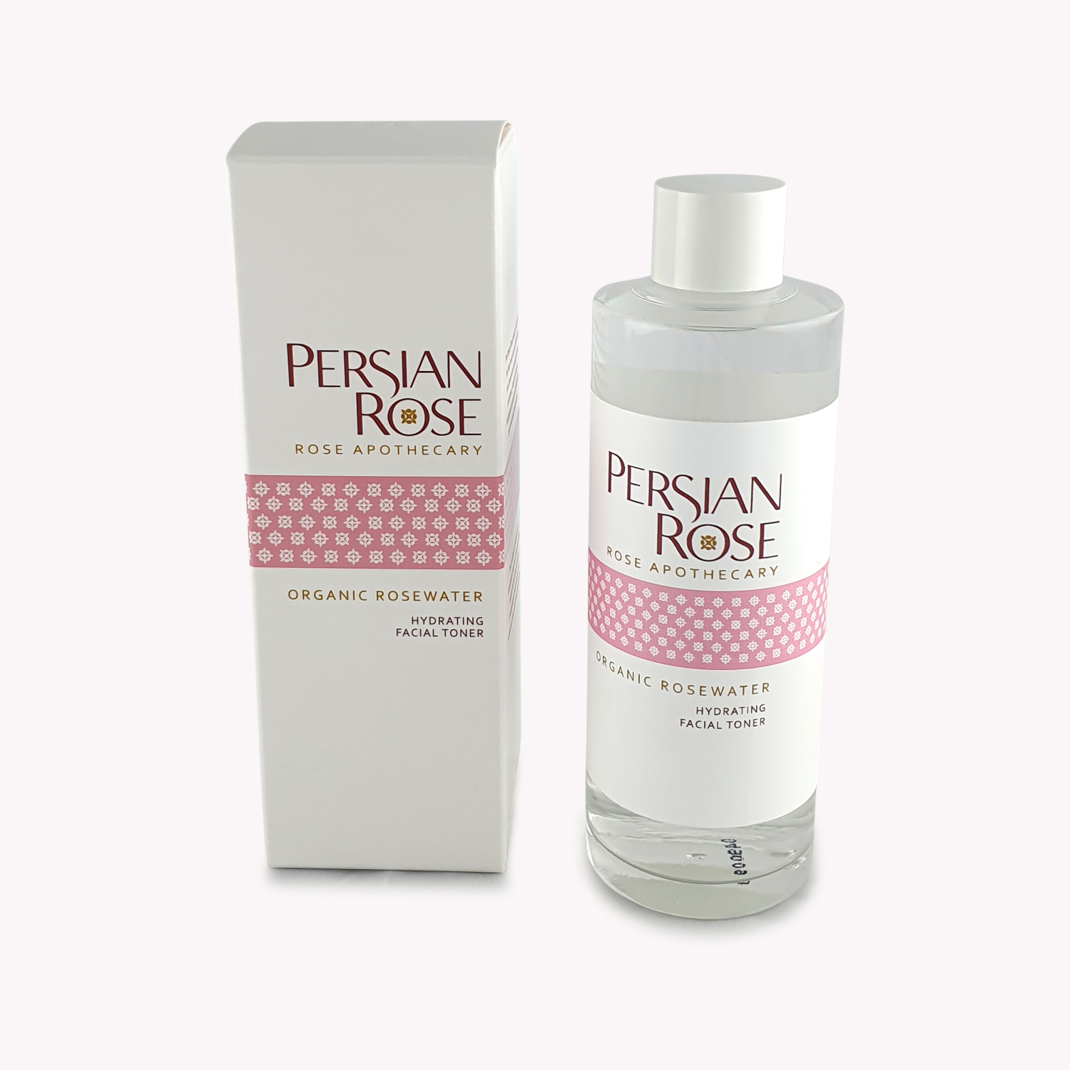 Organic Rosewater Hydrating Facial Toner Bottle and Packaging
